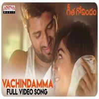 Vachindamma song poster